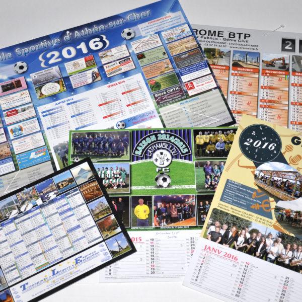 l'imprimerie Lalle imprime vos calendriers pour donner à vos clients.