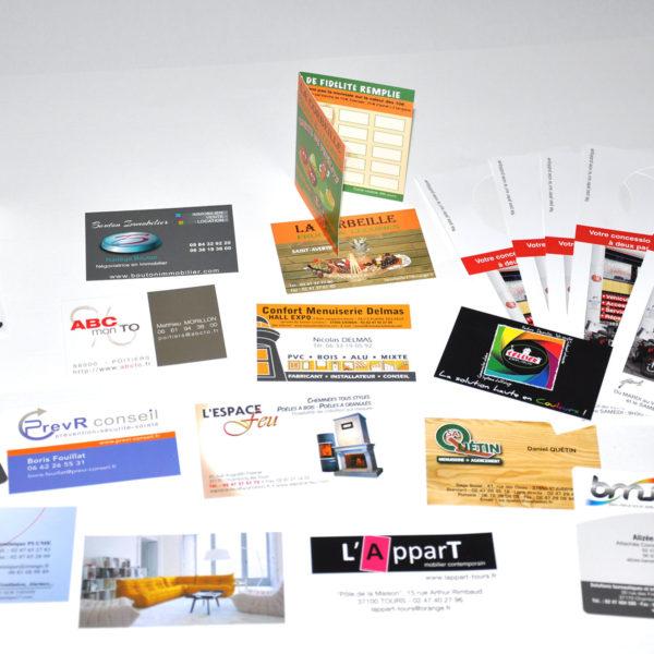 Cartes de visite ou de fidélité imprimée en express.