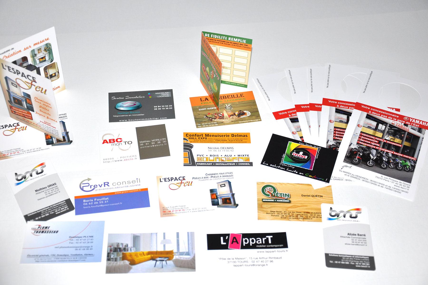 Cartes De Visite Ou Fidelite Imprimee En Express
